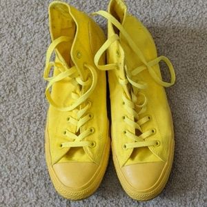 Solid Yellow Converse